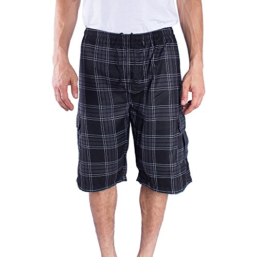 Triveni Mens Next Drawstring Elastic Waist Cargo Short (L, - Inseam Shorts Height By