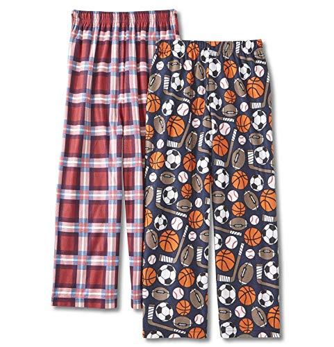 (Joe Boxer Boys' 2-Pack Pajama Pants Sleep Bottoms (Small, Sports))