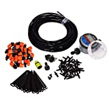 System Garden Irrigation 25m Automatic Micro Drip Irrigation Spray Self Watering Kits with Adjustable Dripper #21026I