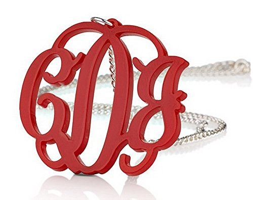 Acrylic 1 6 Monogram Necklace Chain Any product image