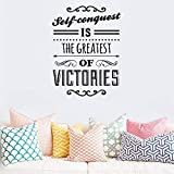 Where Can I Buy Emoji Stickers Wall Sticker Lettering Wall Art Sticker Removable Letters Quote Art Self Conquest is The Greatest of Victories