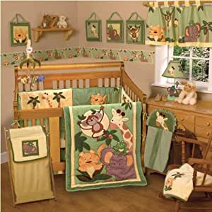 NoJo Jungle Babies 6 Piece Crib Bedding Set (Discontinued by Manufacturer)