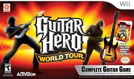 Wii Guitar Hero World Tour Guitar Kit
