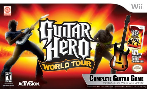 Top 10 recommendation wii guitar hero world tour bundle