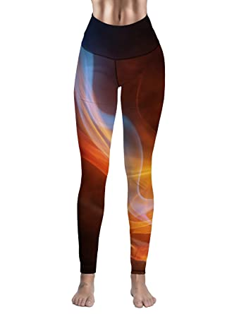 Women s Sport Wear Yoga Legging Designs Flame Lines Custom Running Workout  Fitness Pants Size S 7423ca9a9