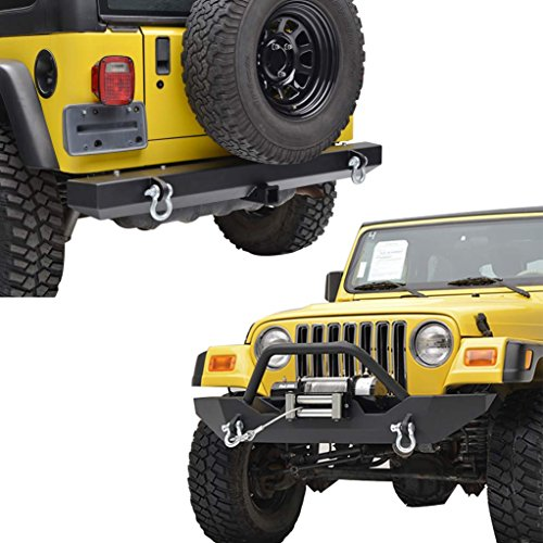 E-Autogrilles-97-06-Jeep-Wrangler-TJ-Black-Textured-Off-Road-Front-Bumper-with-Winch-Plate-and-Rear-Bumper-with-2-Hitch-Receiver-Combo-51-005151-0008