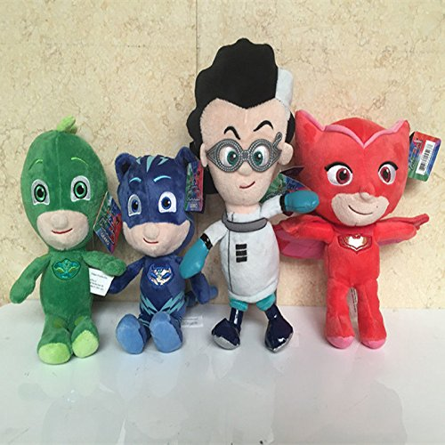 Book Character Costumes Adults Uk (4pcs/set Just Play Masks Bean Catboy&Owlette&Gekko&Romeo Plush)