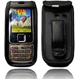caseroxx Leather-Case with belt clip for Nokia 6300 made of real leather with belt-clip in black