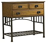 Home Styles 5050-61 Oak Hill Buffet Server, Distressed Oak Finish