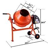 JAXPETY 2-1/5cuft Portable Electric Concrete Cement Mixer Barrow Machine Mixing mortar