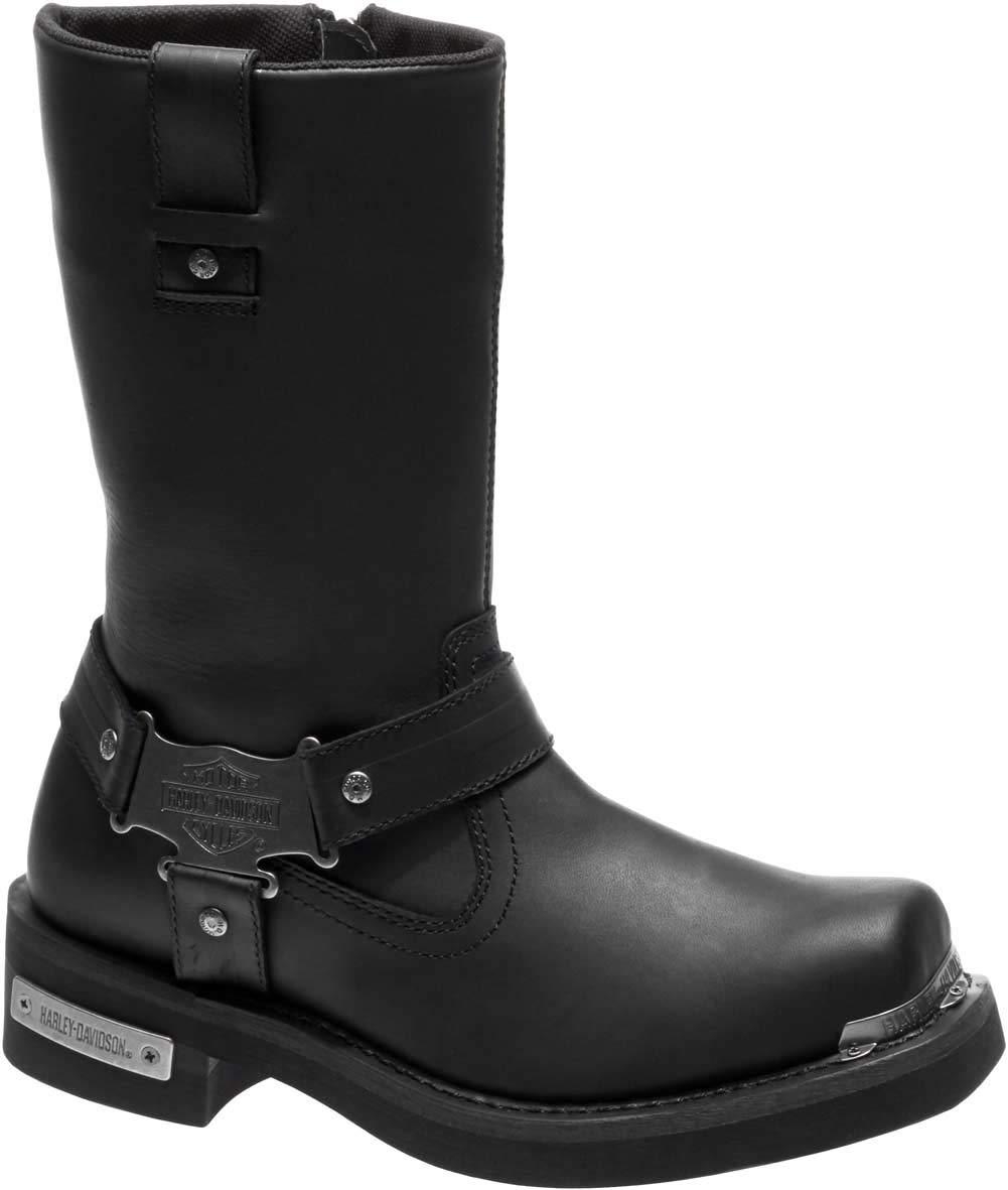 Harley-Davidson Men's Charlesfort Leather Motorcycle Boots D96149 (Black, 11.5)