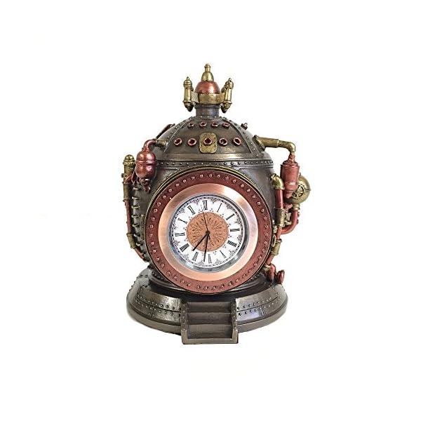 Steampunk Time Machine Clock & Trinket Box Statue 3