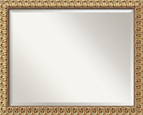 Wall Mirror Large, Florentine Gold Wood: Outer Size 32 x (Gold Large Wood)