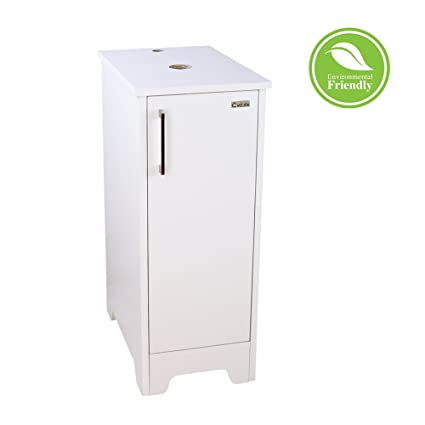 Eclife Bathroom Vanity White 14u201d For Small Space, Single MDF Vanity Modern  Cabinet Count