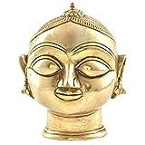 Indianshelf Handmade Brass Gauri Head Gangaur Lady Head Statues Decoration Designer Vintage Statement Pieces Online New