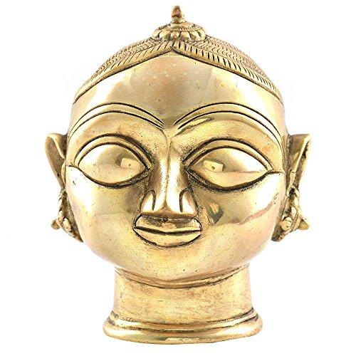 Indianshelf Handmade Brass Gauri Head Gangaur Lady Head Statues Decoration Designer Vintage Statement Pieces Online New by Indian Shelf