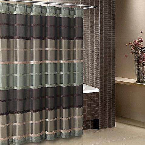 "Bombay Shower Curtain 72""X72"" Sage"