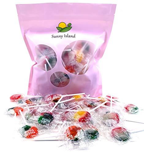 (Sunny Island Bulk - Tiger Pops, Assorted Fruit Flavor Lollipops Hard Candy, 2 Pounds Bag)