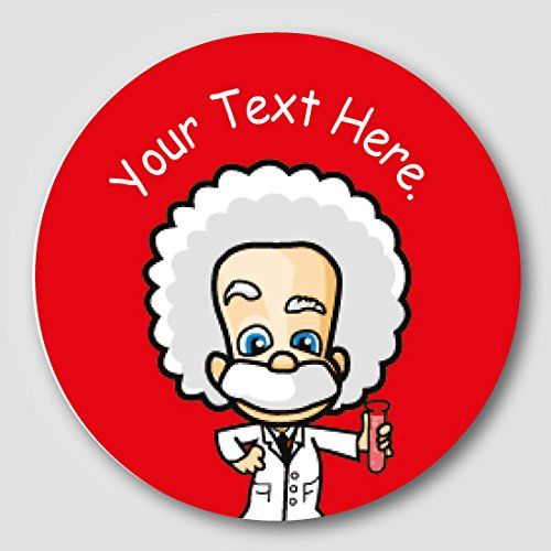 48 30mm personalised einstein science childrens school reward stickers