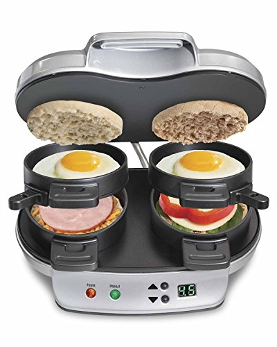 [Breakfast Machine Cook 1 or 2 Hamilton Beach Dual Breakfast Sandwich Maker Kitchen Countertop Press] (Quick Costume Ideas For Work)