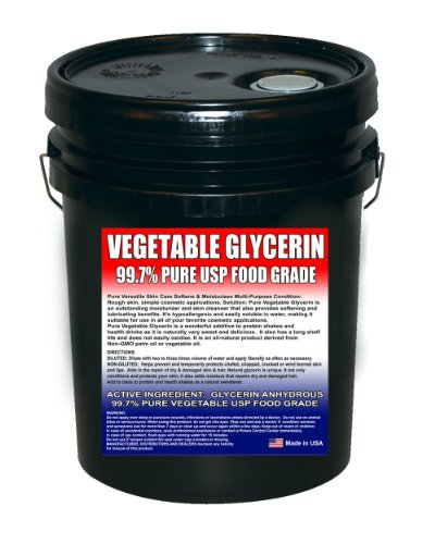 Vegetable Glycerine Kosher USP 99.7%+ Pure - Highest Quality and Perfect Sweetness - (5 Gallon - Vegetable Glycerin Frontier