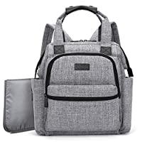 BRINCH Multi-function Lightweight Baby Diaper Bag Backpack Handbag Organizer ...