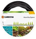 Gardena 136220 Tuyau d'irrigation à goutteurs intégrés 15 m - 4.6 mm - Noir