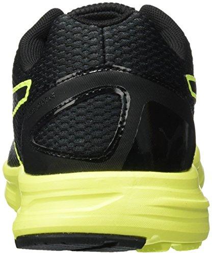 Puma Unisex Adults' Descendant V4 Running Shoes, Black Black - Schwarz (Puma Black-safety Yellow 02)