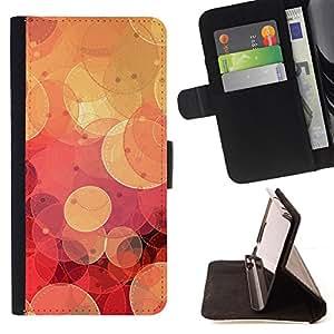 - Cool Retro Red Bokeh - - Prima caja de la PU billetera de cuero con ranuras para tarjetas, efectivo desmontable correa para l Funny HouseFOR Samsung Galaxy S3 III I9300