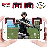 Cheap Mobile Game Controller [Newest Version],Sky Castle Sensitive Shoot and Aim Buttons L1R1 Mobile Game Trigger Joystick Gamepad for PUBG/Knives Out/Rules of Survival for 4.5-6.5inch Android Phone