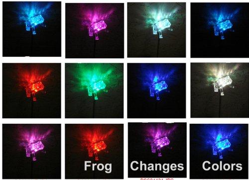 NEW Frog Solar Powered Garden Yard Stake Light Set of 2pcs