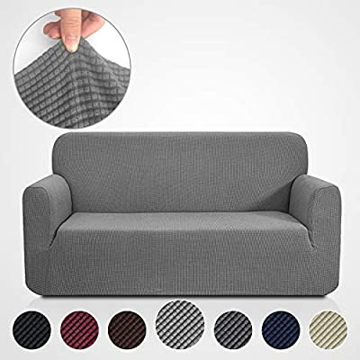 RHF Jacquard-Stretch Sofa Cover, Slipcover for Leather Couch-Polyester Spandex Sofa Slipcover&Couch cover for dogs, 1-Piece sofa protector(${size}: ${color})
