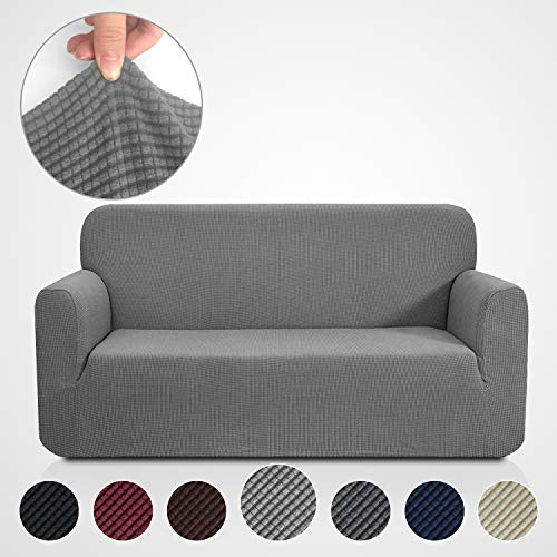 Rose Home Fashion Stretch Couch Covers for 3 Cushion Couch-Couch 1-Piece Covers for Sofa-Sofa Covers for Living Room,Couch Covers for Dogs, Sofa Slipcover,Couch slipcover(Sofa: Gray) (Online Cheap Sofas For)