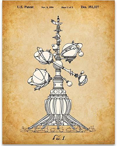 1994 Disneyland Astro Orbiter Patent Print - 11x14 Unframed Patent Print - Great Gift Under $15 for Disney -