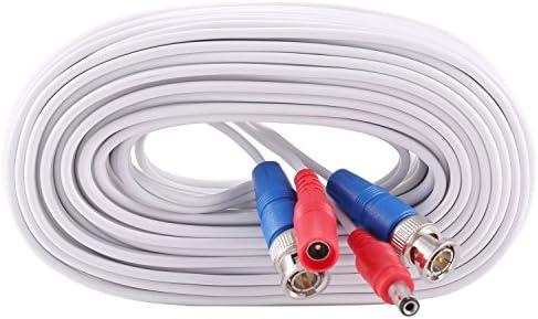 msten 60 pies BNC Cable de Video Cable de alimentación cámara de seguridad para vigilancia CCTV DVR sistema instalación