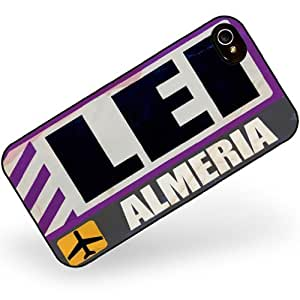 Rubber Case for iphone 4 4s Airportcode LEI Almeria - Neonblond