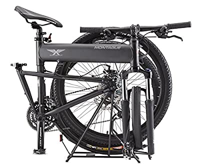 2016 Montague Paratrooper Pro Folding Mountain Bike, 27 Speeds with Safecastle Stainless Steel Water Bottle ...