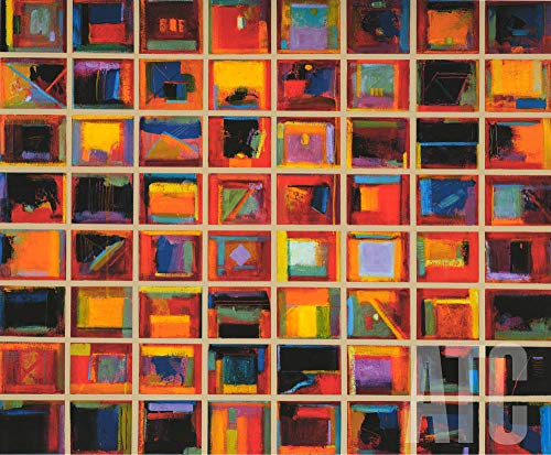 ArtToCanvas 48W x 40H inches : 64 Abstract Paintings by Gary Max Collins - Paper Print ONLY ()