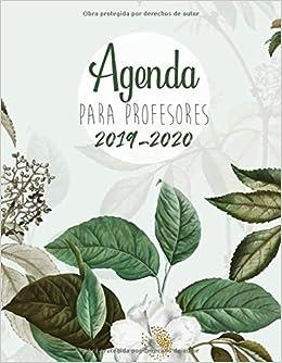 Calendario Agenda 2020 Para Imprimir.Agenda Para Profesores 2019 2020 Agendas Escolares Para