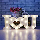 XIYUNTE Romantic Marquee Sign Light - I LOVE U Night Lights Room Decor Valentine's Day Motif Lamps Wall Lights Battery & USB Operated Bedside and Table Lamps for Living Room,Children's Bedroom,Party,Christmas,Wedding,Birthday