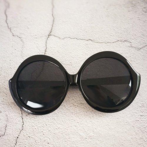 Sharplace Lunette Uv400 Élégante Ronde Accessoires De Femme Confortable Décor Durable Soleil Pour Protection Motif Noir rwr5qCF