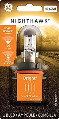 GE H4-60NH/BP1 Nighthawk Motorcycle Replacement Bulb, Pack of 1