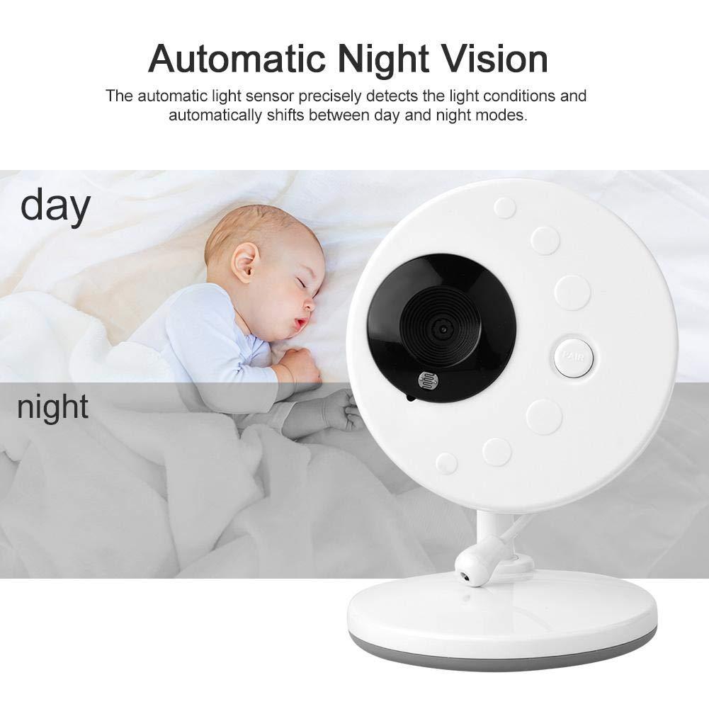 3.5  TFT Wireless Digital Video Baby Monitor C/ámara de seguridad Sensor de temperatura de visi/ón nocturna EU Baby Monitor