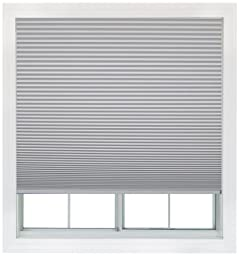 Easy Lift, 36-inch by 64-inch, Trim-at-Home (fits windows 21-inches to 36-inches wide) Cordless Honeycomb Cellular Shade, Blackout, White