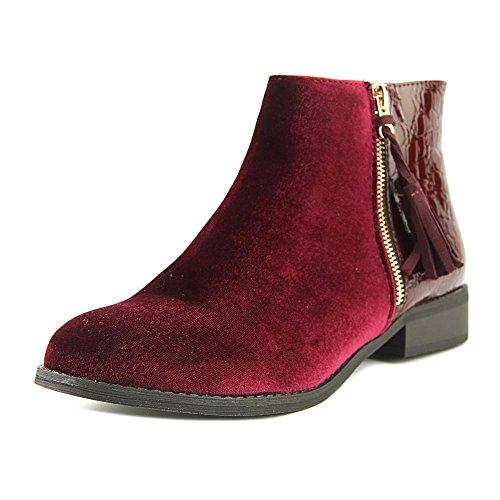 Zarra velvet Ankle Detailing Shoes burgundy Gold Women's Gc Bootie RqxF4zg