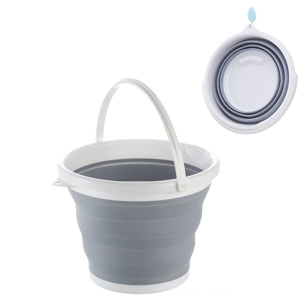 Collapsible Bucket, Yummy Sam Foldable Water Container Portable Folding Wash Pail for Beach, Travel, Camping, Fishing, Gardening, Car Washing