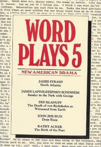 Wordplays Five: New American Drama (PAJ Books) (v. 5)