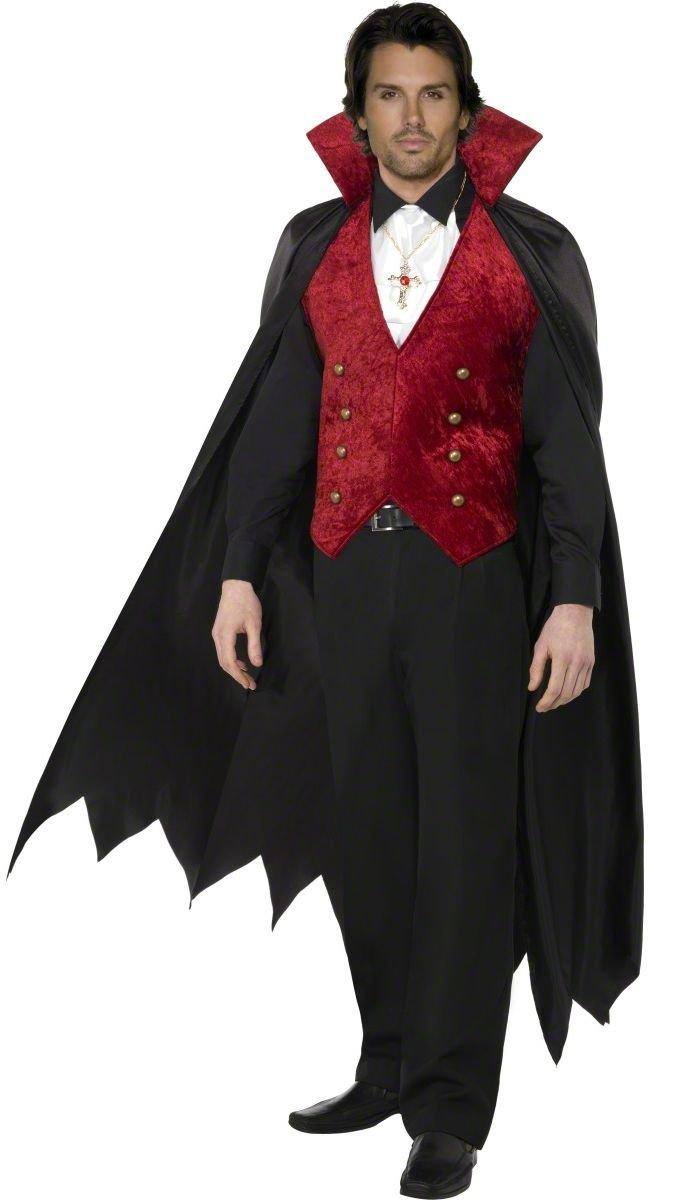 KULTFAKTOR GmbH GmbH GmbH Vampirumhang Deluxe mit Weste Dracula schwarz-rot M 53f120