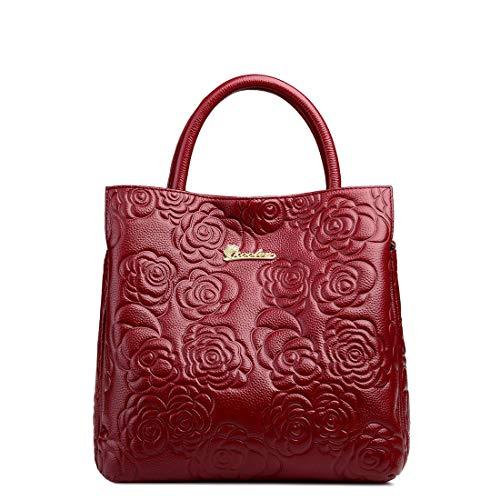 Hombro Diagonal Capacidad Paquete De Del En Red Wine Simple Bolso Mujer Relieve Para Gran color Kervinzhang Red xRfSwBq7