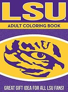 NCAA LSU Tigers Unisex Adult Coloring Bookncaa Adult Coloring Book, Yellow, 96 Coloring Pages